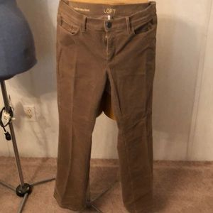 LOFT tan corduroy pants